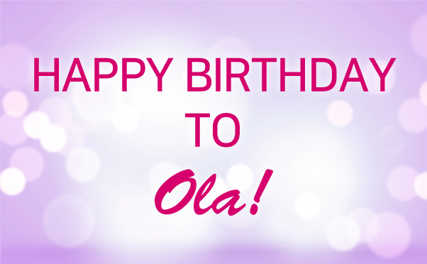 [올라] HAPPY BIRTHDAY TO OLA!